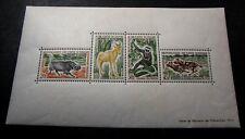 Souvenir Sheets Ivory Coast  Scott# 210a Animals 1963  MH  C451