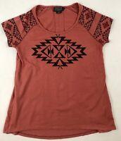 Pendleton Women's Tribal Print T-shirt Women's XS Rust Red - EUC