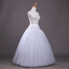 White Long 4 layers Petticoat Crinoline Slips Bridal Wedding Dress Skirt