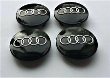 4 x NEW ALLOY WHEEL CENTRE HUB CAPS BLACK 60MM 4B0601170 AUDI A3 A4 A6 A8 TT