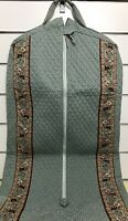 Vera Bradley Garment Bag in Pewter Gray with Indiana Tag