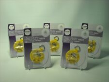 """FIVE SMALL 2"""" ADHESIVE DISC WALL HANGER & HOOK Max Plate Size 6"""" 15cm & 1KG"""