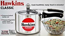 HAWKIN Classic CL3T 3-Liter New Improved Aluminum Pressure Cooker Small Silver