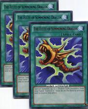 3 X YU-GI-OH THE FLUTE OF SUMMONING DRAGON PROMO GREEN/BLUE RARE MINT DL17-EN013