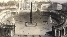 GRAVURE ANCIENNE 19e - VUE DU VATICAN ROME - ITALIE