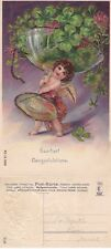 1910's HEARTIEST CONGRATULATIONS COLOUR POSTCARD