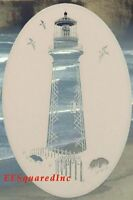 LIGHTHOUSE Etched Glass Window Decal New Oval 8x12 Vinyl Cling Tropical Decor