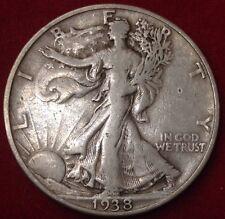 1938-D 50C Walking Liberty Half Dollar