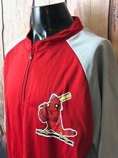 ST LOUIS CARDINALS PULLOVER 1/4 ZIP Cardinal Logo Baseball MLB Size XL