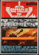 Original BATTLE OF THE BULGE Italian 55X78 AWESOME Jack Thurston Tank Art