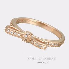 Authentic Pandora Silver PANDORA Rose Sparkling Bow CZ Ring Size 7.5 180906CZ-56