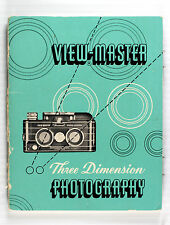 Original View-Master Stereo Camera Instruction Manual, 32 pages, printed in 1952