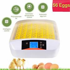 7~56 Digital Egg Incubator Hatcher Temperature Control Automatic Turning New,