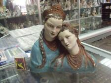 Russian USSR gypsum figurine Ukrainian and russian girl folklore Vintage 9126c
