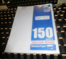 """College Ruled White Notebook Paper-150 Sheets-10.5 X 8"""""""