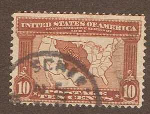 US Stamps, Scott 327 - 10 Cent 1904 Louisiana Purchase, Used
