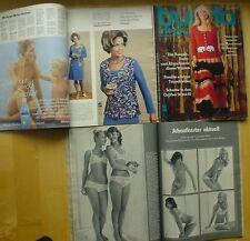 Burda Moden 11/71 Weihnacht Puppen-Kleider Abendmode Mieder Corselet sexy 70er J