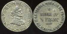 HENRI IV  1/2  franc  1607   COLLECTION BP   ( bis )