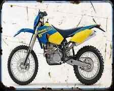 Husaberg Fe 450 04 A4 Metal Sign Motorbike Vintage Aged