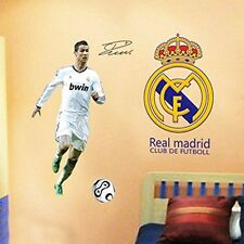 Real Madrid C Luo Football Super Star Mural Decor Vinyl Wall Sticker Decals