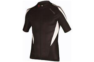 Endura FS260 Pro Road Cycling Jersey - Black/White - Small