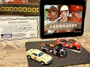 Collectible Earnhardt Racing Family 3 Car Set Autographed Signed Certificate