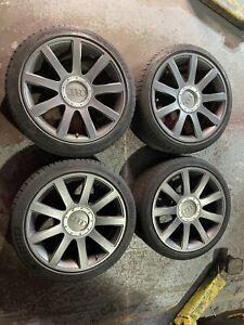 "Rare Audi RS6 C5 18"" Alloy Wheels And Tyres 18x8.5J ET30 4B3601025R Genuine OEM"