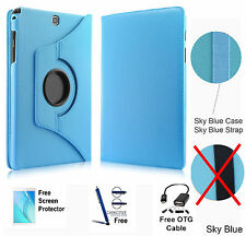 360 Rotating PU Leather Case Cover Samsung Galaxy Tab A 8.0 T350/P350 Sky Blue