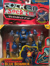 Rock Em Sock Em Robots Robo Tournament Blue Bomber Robot 2001 Mattel NEW