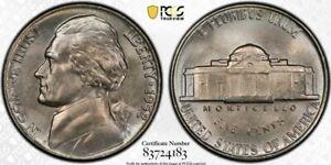 1952-P Jefferson Nickel PCGS MS66 Lustrous Gem! Tough Date!