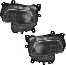 Halogen Headlights Headlight Assembly (Black) Pair Set for 14-17 Jeep Cherokee