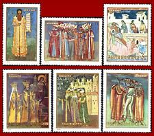 Romania Rumänien 1970 Art, paintings, frescos Moldau monasteries Mi 2856-2861 **