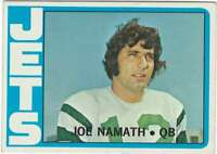 JOE NAMATH 1972 Topps #100 NY Jets  HOF Very Sharp ID:11815