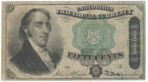 4th Issue Fr-1379 Fifty Cents Fractional Currency
