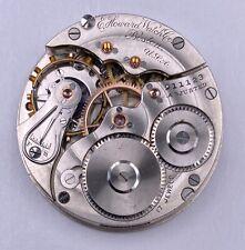 1908 E.Howard 16s 17j Pocket Watch Movement Series 3/1905 #911123 Stem Set HC