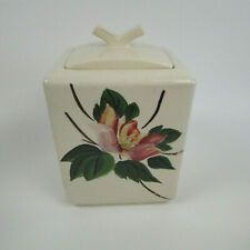 Vintage McCoy Pottery V Finial Square Cookie Jar Hard to Find Rare 1950's