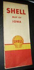 Shell Oil Highway Map – Iowa (1948)