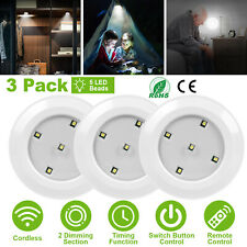Dimmable LED Under Cabinet Light w Remote Control Closets Bathroom Lamp 3 Pack
