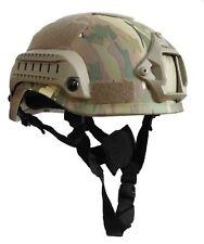 Casco Elmetto Softair Tattico Militare Multicam con Velcro Mich