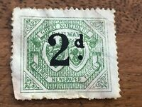 great northern railway - 2d prepaid newspaper parcel stamp