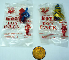 Rare 1960's Bozo The Clown 10 Cent Gumball Prize Toys Sealed MIP
