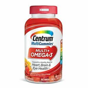 Centrum Multi Gummies Multi + Omega-3 100 Count Heart Brain and Eye Health