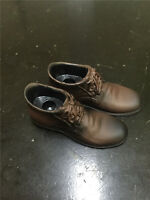 "1/6 Scale Male Figure Leather Shoes  Cloth Model Toy F 12"" Doll Feet Solid Brown"
