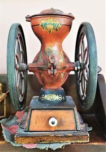 Enterprise Coffee Mill Grinder No 2 Original Paint Working Double Wheel