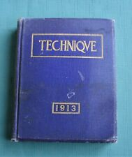 1913 MASSACHUSETTS INSTITUTE OF TECHNOLOGY (MIT) COLLEGE YEARBOOK *Technique