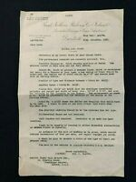 1928 Letter, Coach Spec. for Great Northern Railways Ireland, George T. Glover