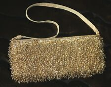 Bead-azzeling! Inge Christopher Gold Evening / Event Clutch Purse Bag