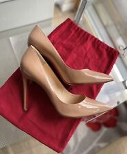 CHRISTIAN LOUBOUTIN PIGALLE 100 Nude Patent Shoes Heels UK 7.5 EU 41  RRP £540
