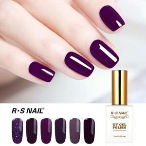 RS Gel Nail Polish Set UV LED Nail Gelis Varnish Violet Color Gel Lacquer 15ml