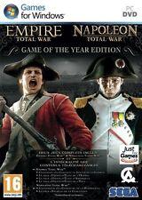 EMPIRE TOTAL WAR + NAPOLEON TOTAL WAR GOTY NUEVO PRECINTADO EN CASTELLANO PC